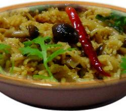 mushroom pulao